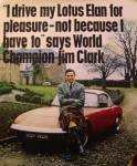 Jim Clark and the Lotus Elan
