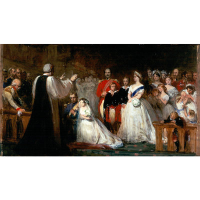 The Marriage of the Princess Royal by J Phillip RA 1858.jpg and