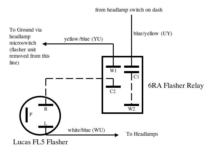 Lucas Flasher Unit Wiring Diagram