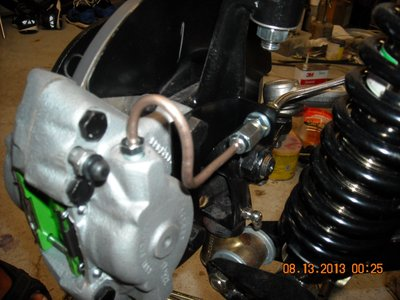 Left Front Suspension with bent Bundy Line.jpg and