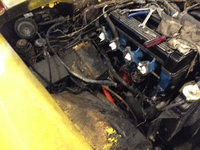 Stripping Plus 2 engine bay.JPG and