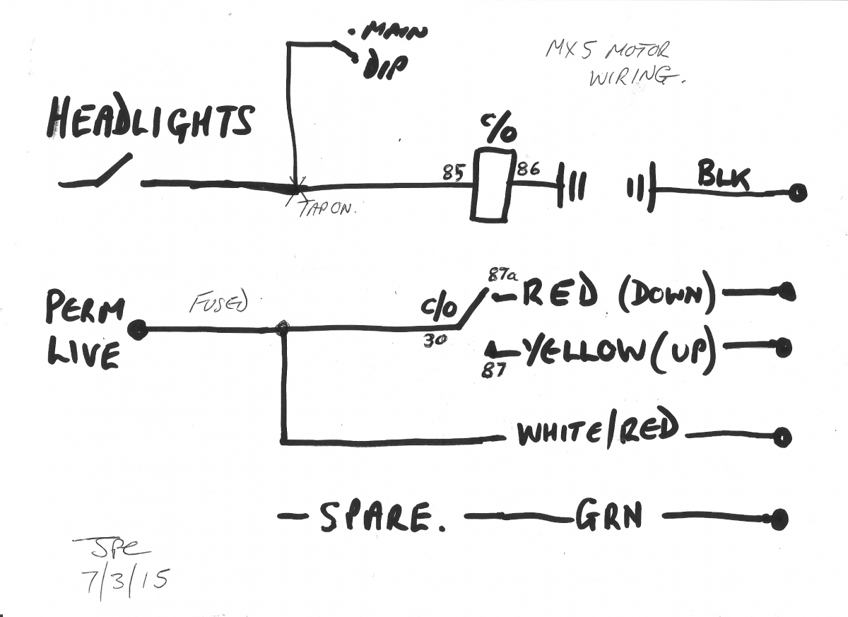 [SODI_2457]   Headlight Wiring : Electrical / Instruments by LotusElan.net | Mazda Mx5 Headlight Wiring Diagram |  | LotusElan.net
