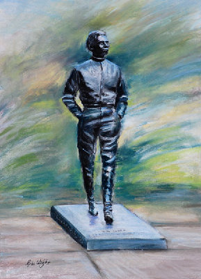 Jim Clark Statue Pastel Gina Wright web.jpg and