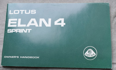 Lotus Elan 4 Sprint Owner's Handbook.JPG and